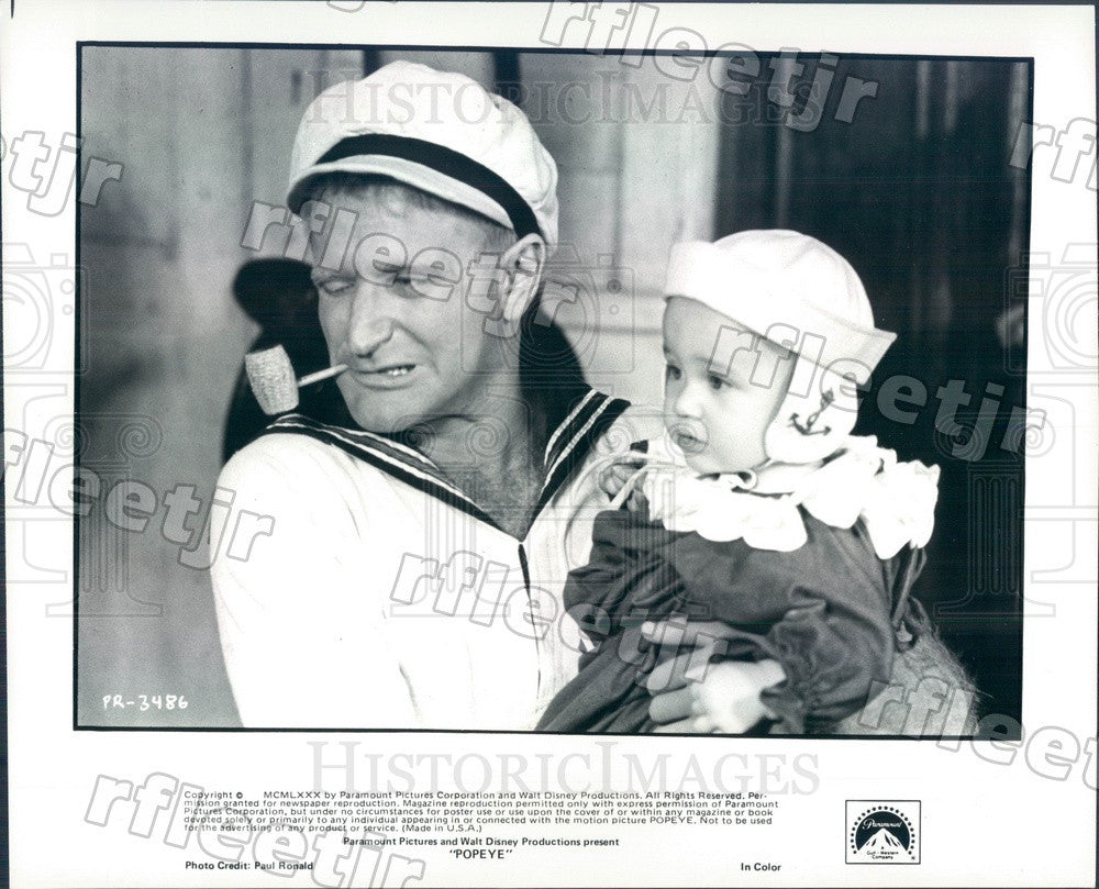 1980 Actors Robin Williams & Wesley Ivan Hurt in Popeye Press Photo adx867 - Historic Images