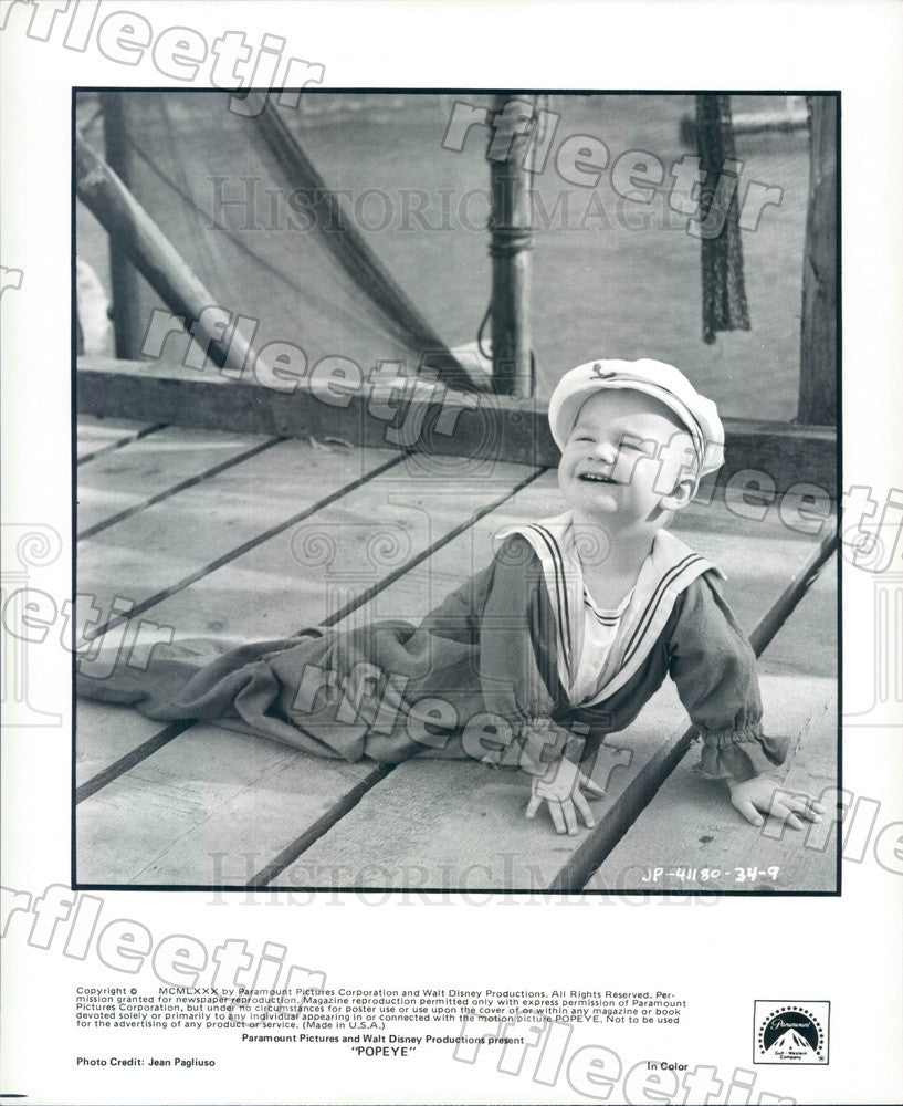 1980 Actor Wesley Ivan Hurt in Film Popeye Press Photo adx869 - Historic Images