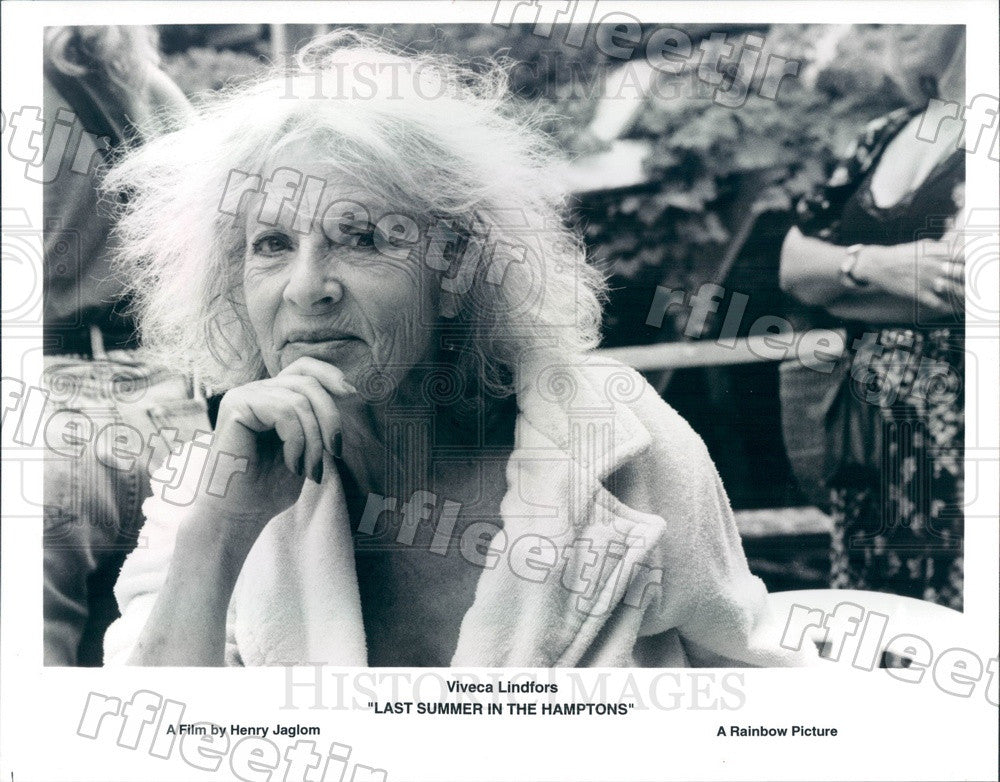 1996 Actor Viveca Lindfors in Film Last Summer In The Hamptons Press Photo adx87 - Historic Images