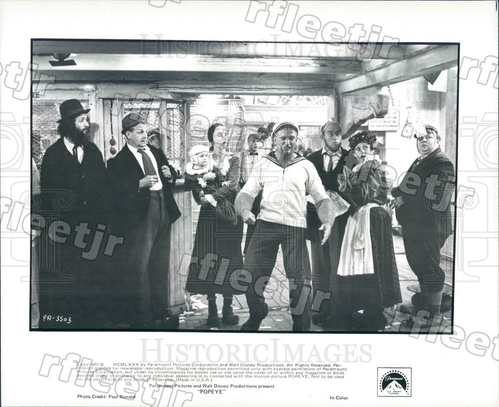 1980 Actors Shelley Duvall & Robin Williams in Film Popeye Press Photo adx877 - Historic Images