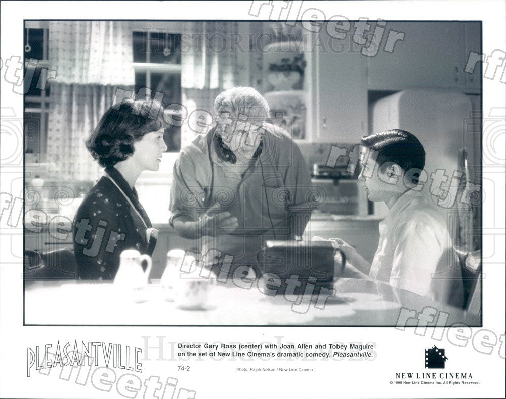 1998 Tony Winning Actor Joan Allen & Tobey Maguire Press Photo adx885 - Historic Images