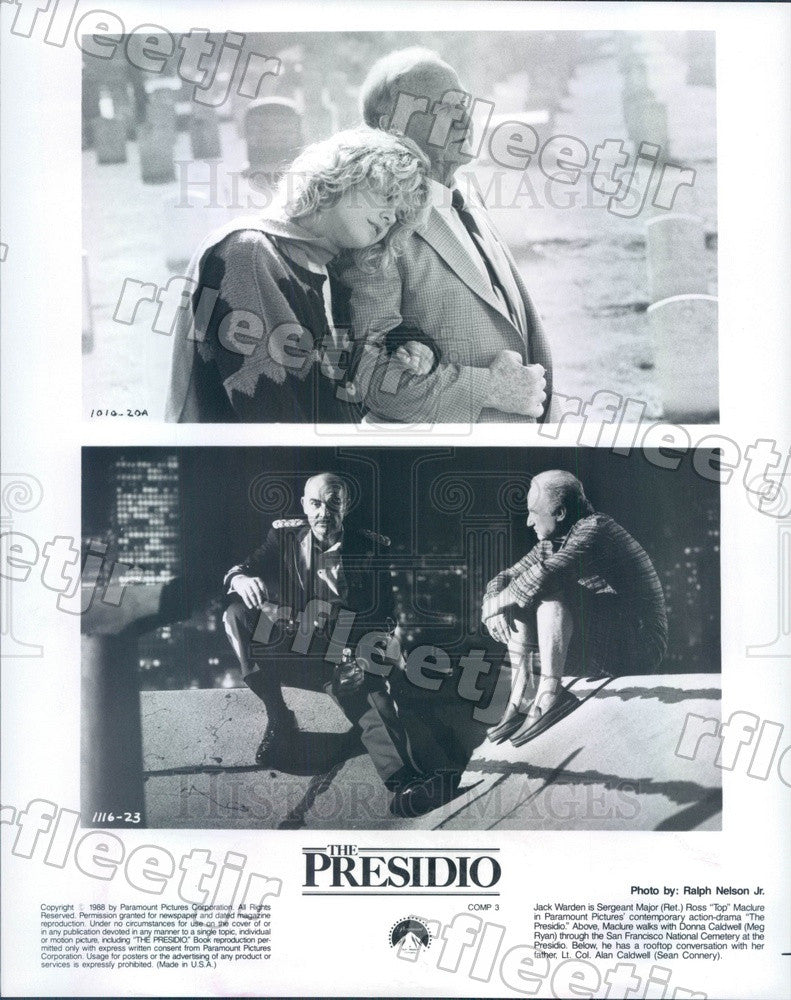 1988 Actors Meg Ryan, Sean Connery, Jack Warden Press Photo adx909 - Historic Images
