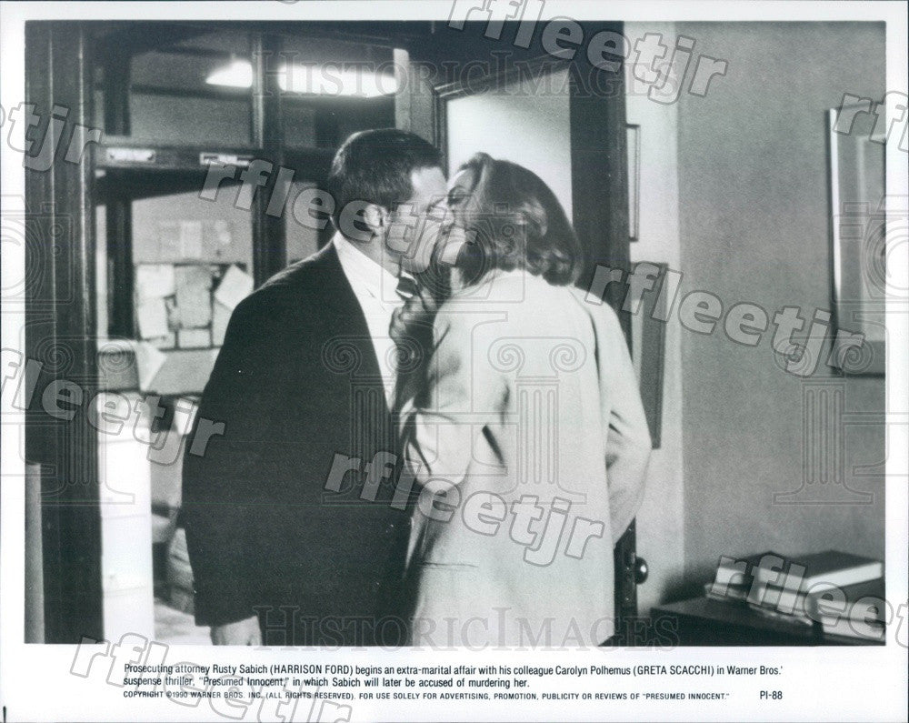 1990 Actors Harrison Ford & Greta Scacchi in Film Press Photo adx911 - Historic Images