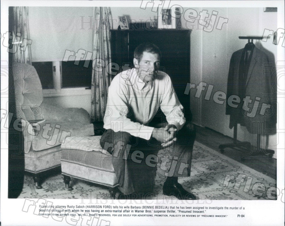 1990 American Actor Harrison Ford in Film Presumed Innocent Press Photo adx917 - Historic Images