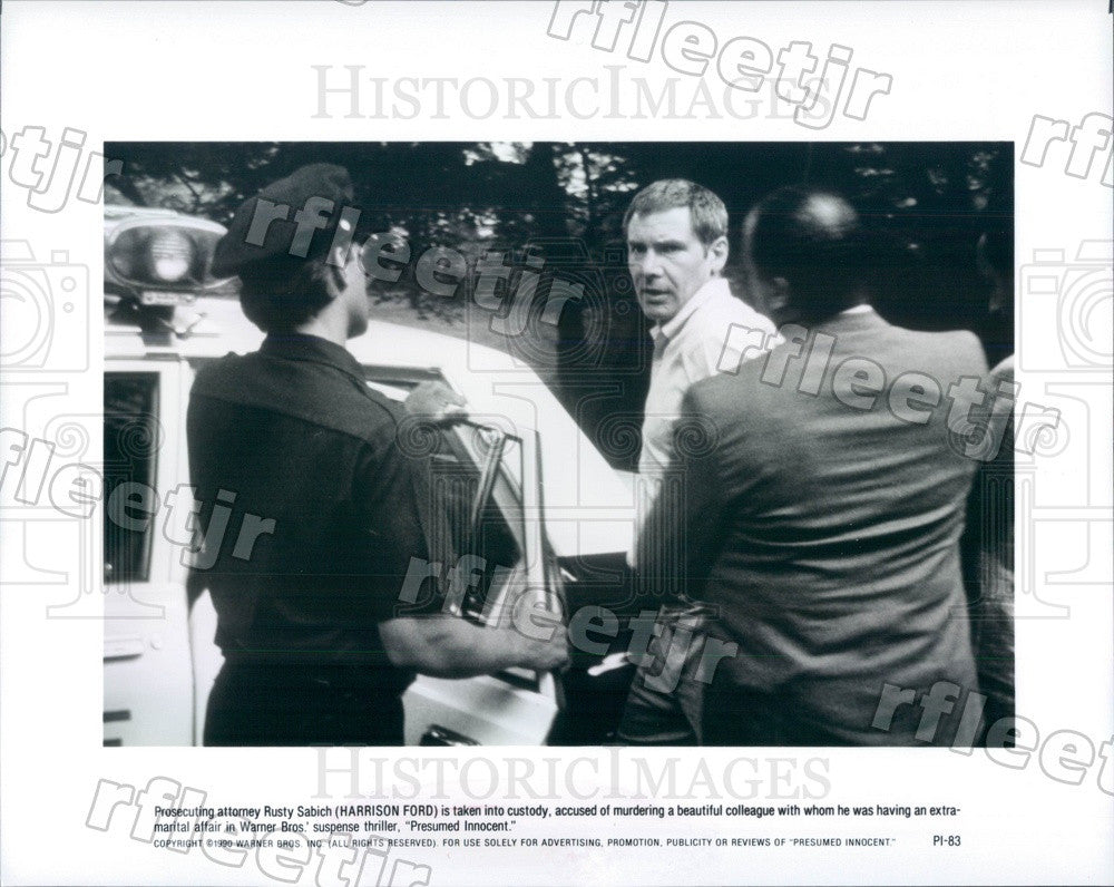 1990 Hollywood Actor Harrison Ford in Film Presumed Innocent Press Photo adx921 - Historic Images