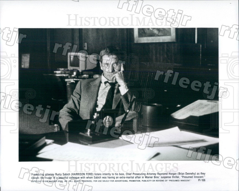 1990 American Actor Harrison Ford in Film Presumed Innocent Press Photo adx923 - Historic Images