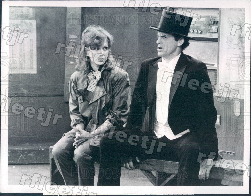 1982 Actors Marilu Henner & Emmy Winner Christopher Lloyd Press Photo adx931 - Historic Images