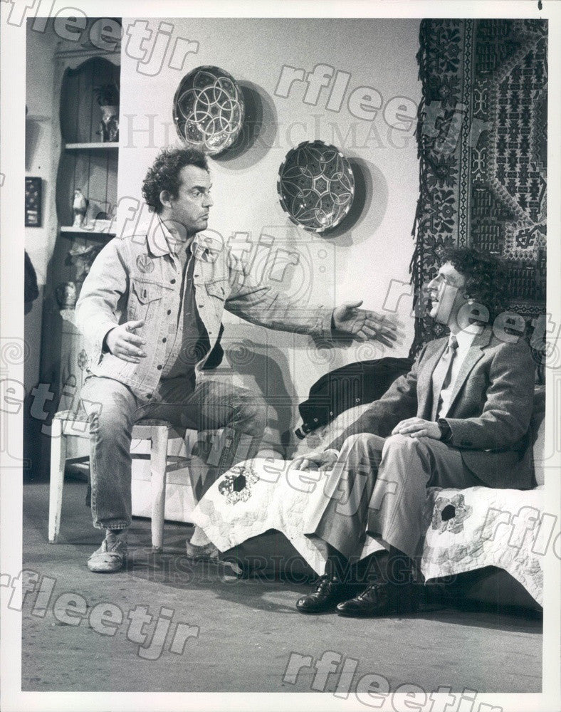 1982 Emmy Winning Actor Christopher Lloyd & Mark Blankfield Press Photo adx943 - Historic Images