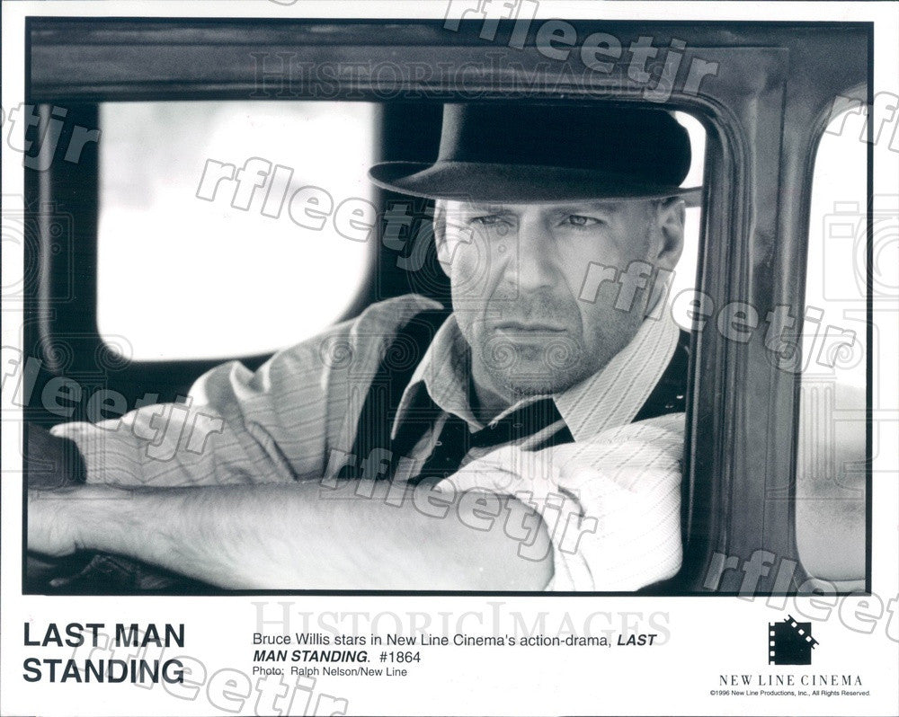 1996 Emmy Winning Actor Bruce Willis in Film Last Man Standing Press Photo adx97 - Historic Images