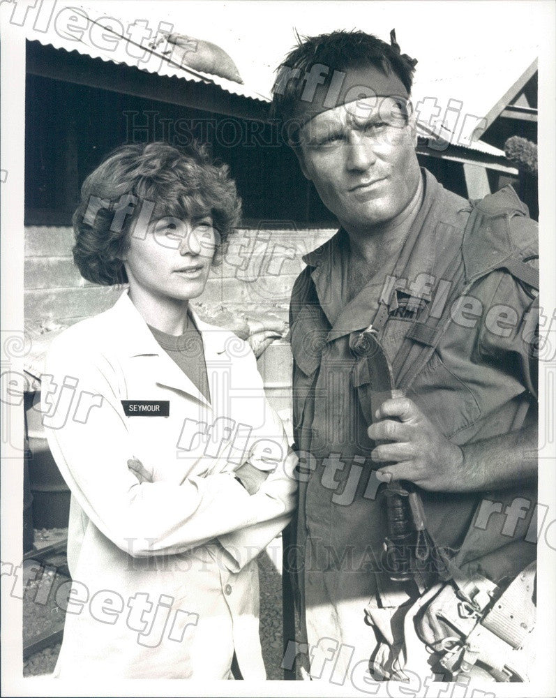 1989 Actors Betsy Brantley & Terence Knox on Tour of Duty Press Photo adx973 - Historic Images