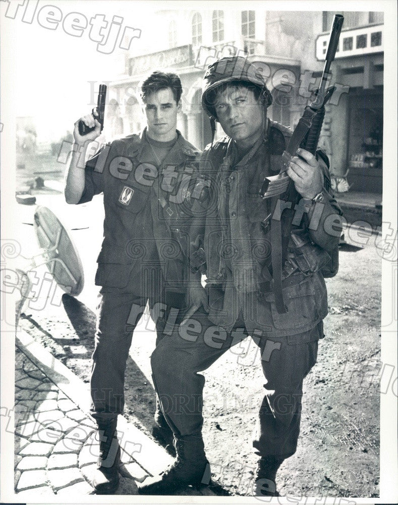 1988 Actors Terence Knox & Dan Gauthier on Tour of Duty Press Photo adx977 - Historic Images