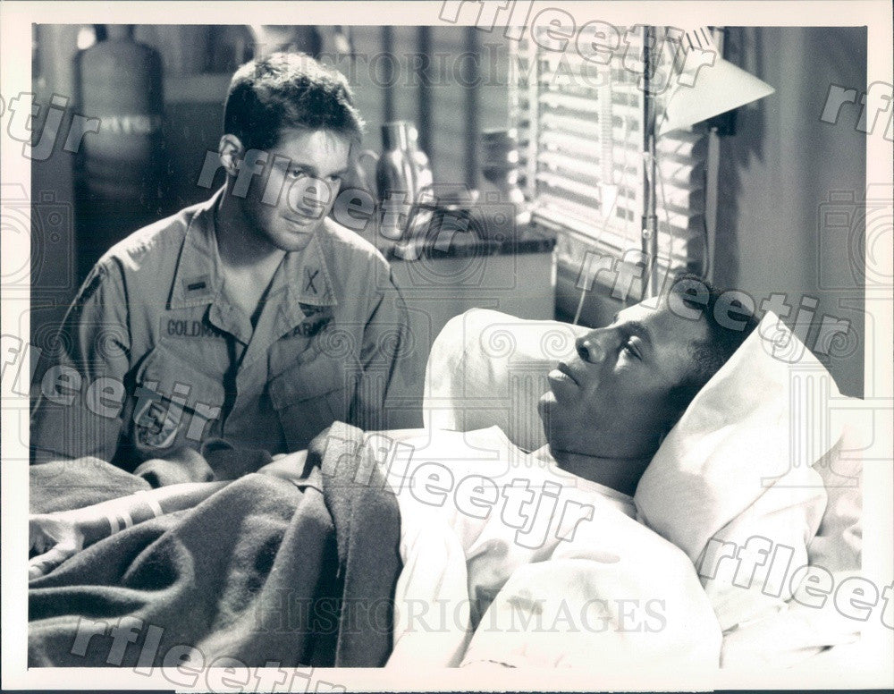 1990 Actors Stephen Caffrey & Carl Weathers on Tour of Duty Press Photo adx995 - Historic Images