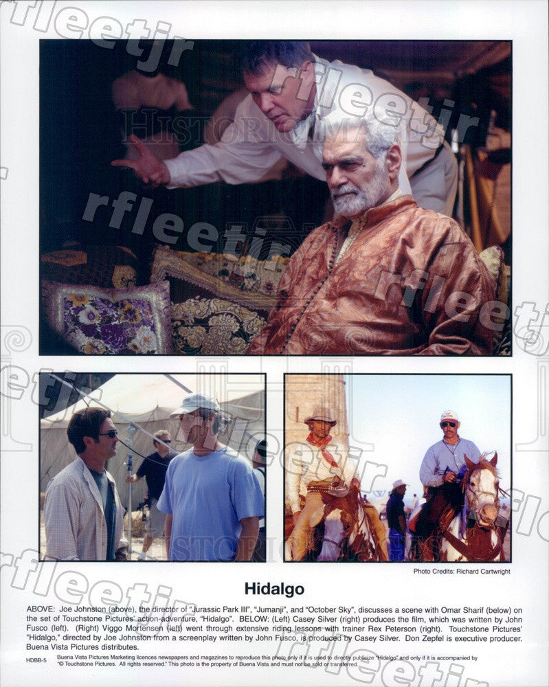 2004 Actors Viggo Mortensen & Omar Sharif, Dir Joe Johnston Press Photo ady1003 - Historic Images