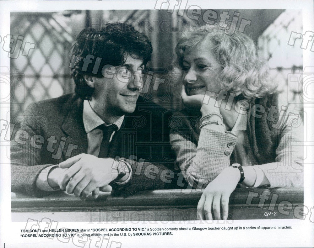 Undated Award Winning Actors Tom Conti & Helen Mirren Press Photo ady1005 - Historic Images