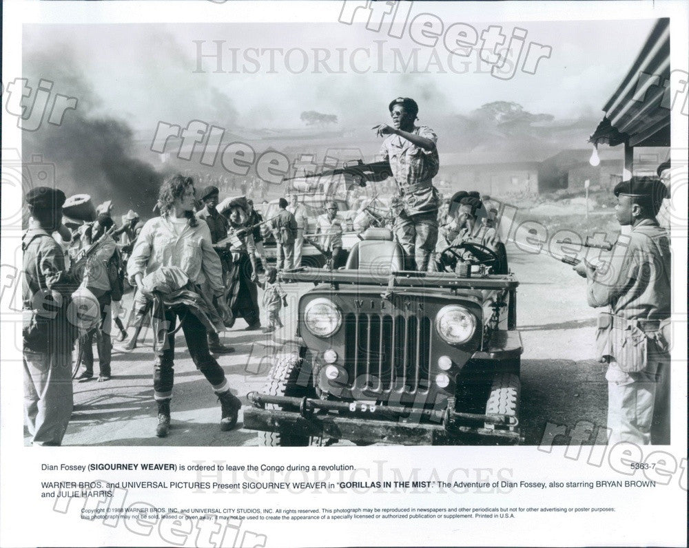 1988 Actress Sigourney Weaver in Film Gorillas In The Mist Press Photo ady1009 - Historic Images