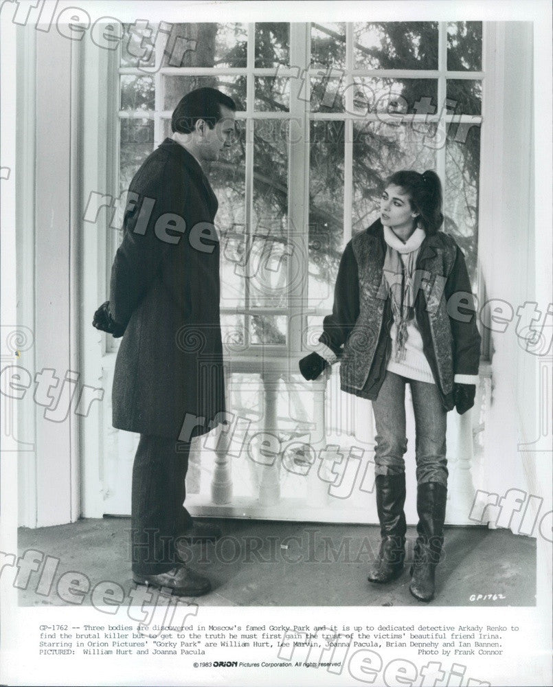 1983 Oscar Winning Actor William Hurt & Joanna Pacula Press Photo ady1013 - Historic Images