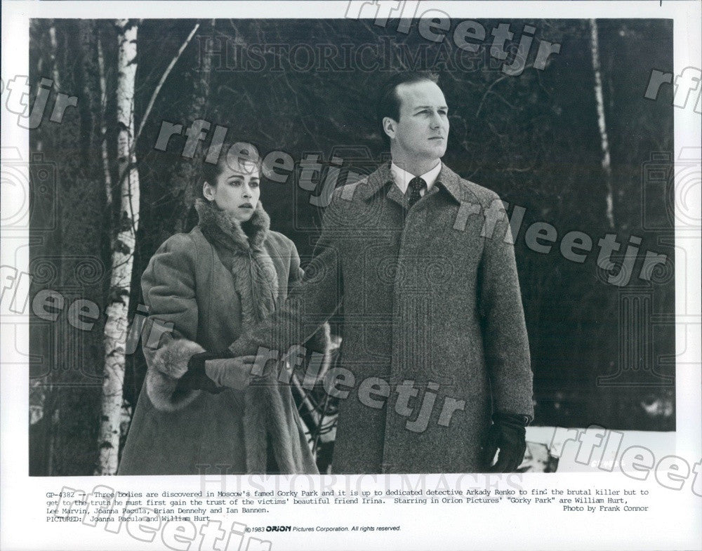 1983 Oscar Winning Actor William Hurt & Joanna Pacula Press Photo ady1015 - Historic Images