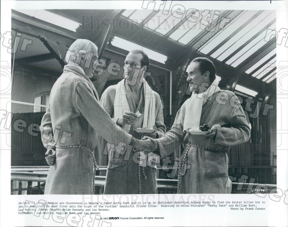 1983 Oscar Winners William Hurt & Lee Marvin, Ian Bannen Press Photo ady1017 - Historic Images