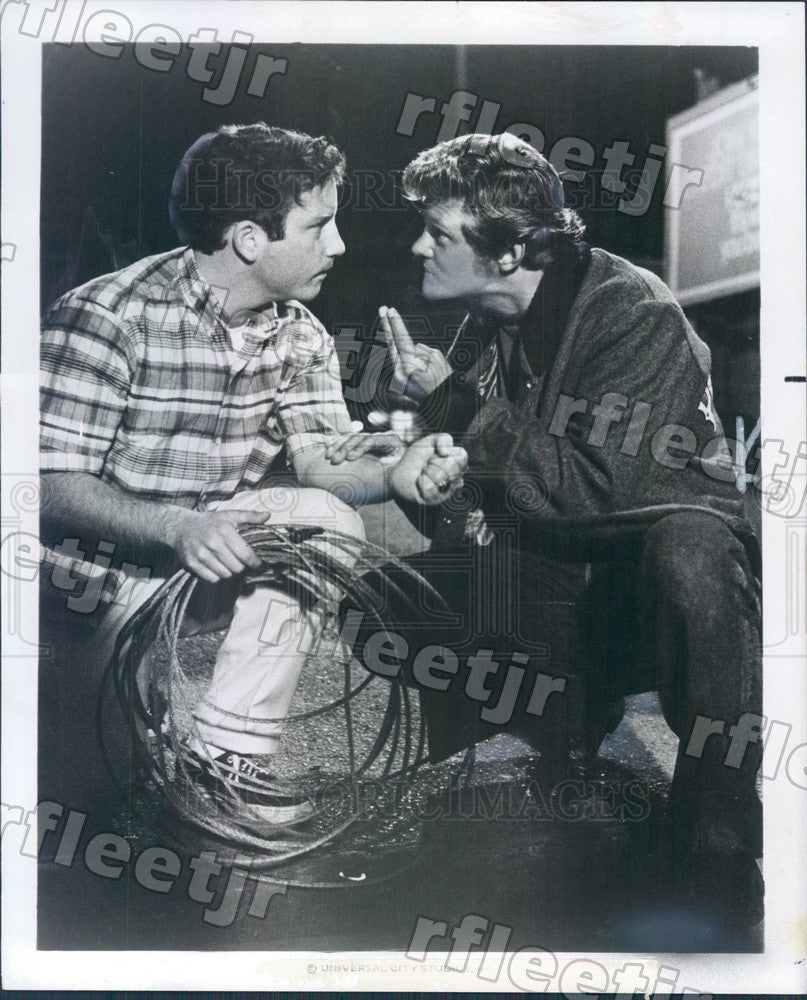 Undated Actors Richard Dreyfuss & Bo Hopkins in Film Press Photo ady1033 - Historic Images