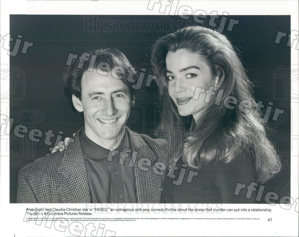 1992 Actors Arye Gross & Claudia Christian in Film Hexed Press Photo ady1039 - Historic Images