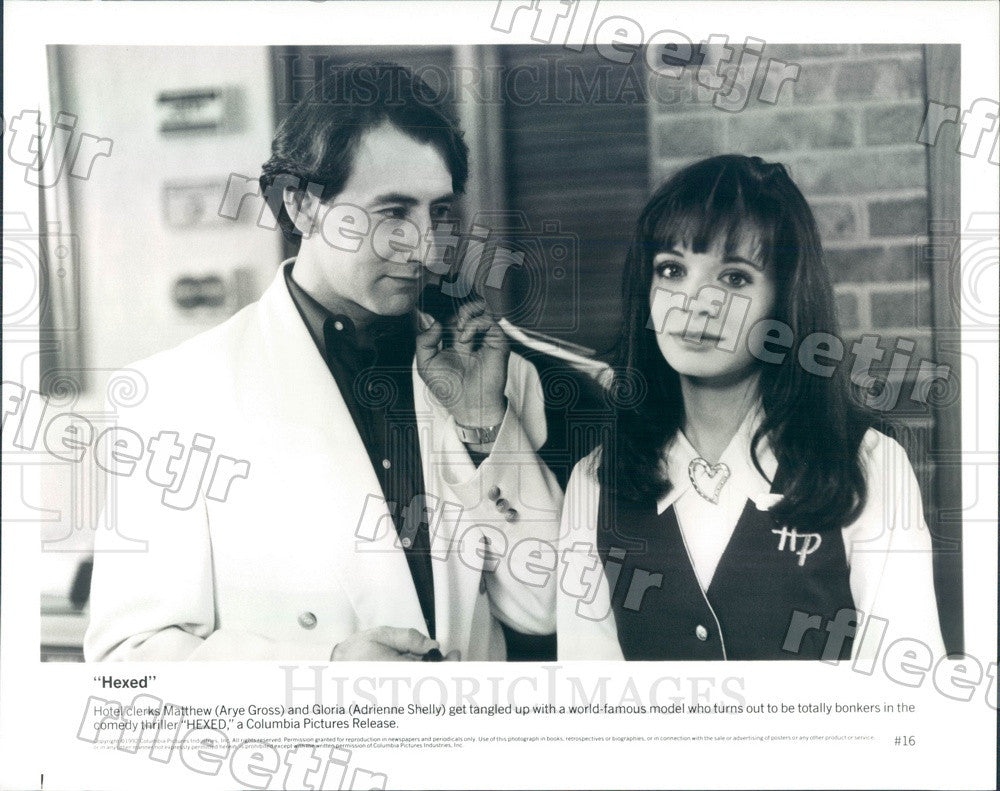 1992 Actors Arye Gross & Adrienne Shelly in Film Hexed Press Photo ady1041 - Historic Images
