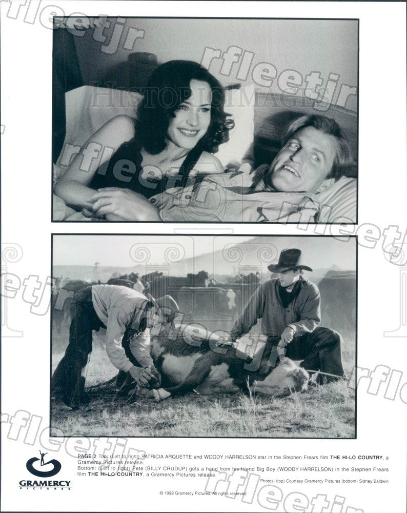 1998 Actors Patricia Arquette, Woody Harrelson, Billy Crudup Press Photo ady1047 - Historic Images