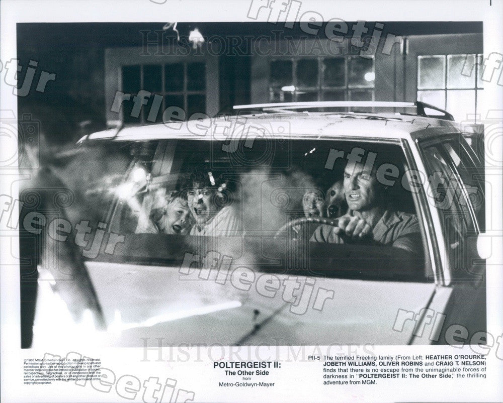 1986 Actors Heather O'Rourke, JoBeth Williams, Oliver Robins Press Photo ady105 - Historic Images