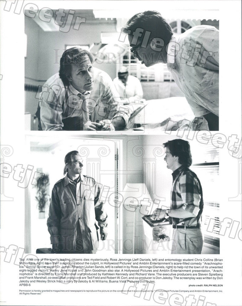 Undated Actors Jeff Daniels, Brian McNamara, Julian Sands Press Photo ady1053 - Historic Images