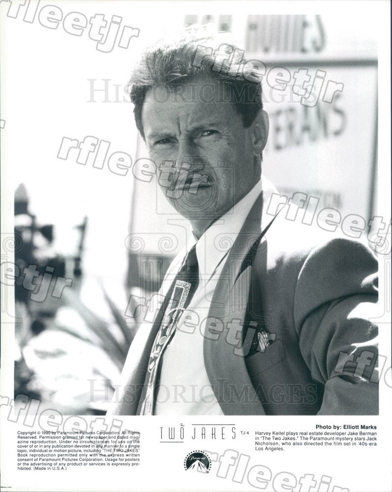 1990 American Actor Harvey Keitel in Film The Two Jakes Press Photo ady1073 - Historic Images