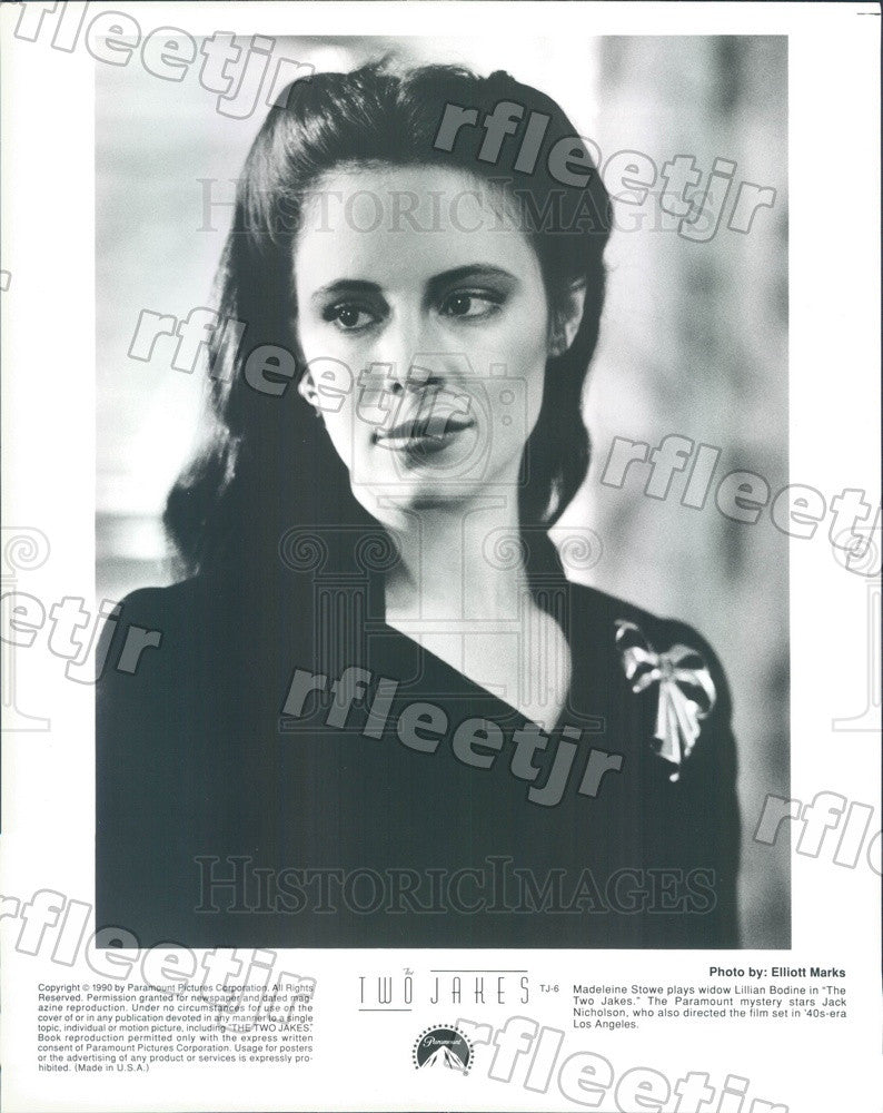 1990 American Actress Madeleine Stowe in Film The Two Jakes Press Photo ady1075 - Historic Images