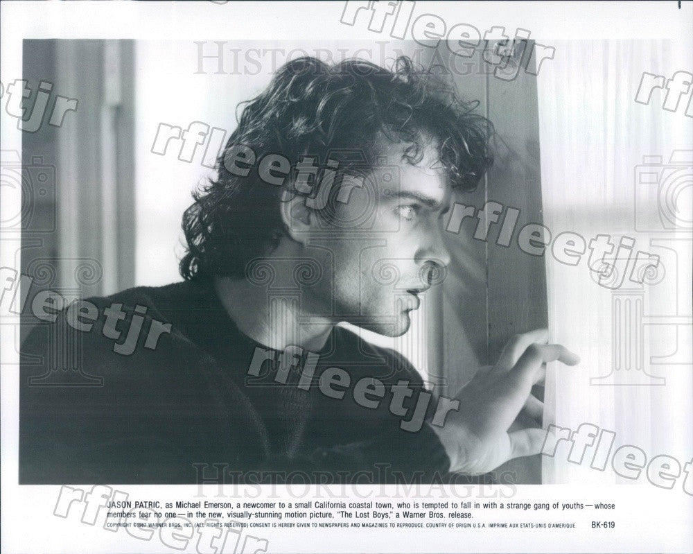 1987 American Actor Jason Patric in Film The Lost Boys Press Photo ady1081 - Historic Images