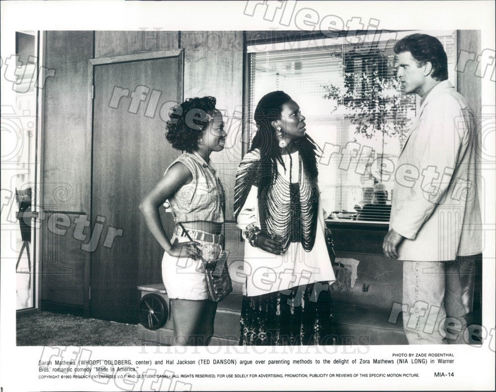 1993 Actors Whoopi Goldberg, Ted Danson, Nia Long Press Photo ady1091 - Historic Images