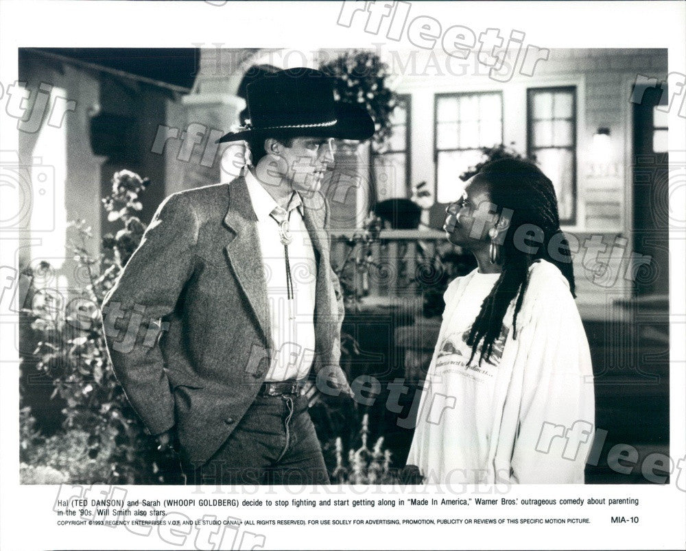 1993 Award Winning Actors Whoopi Goldberg & Ted Danson Press Photo ady1095 - Historic Images
