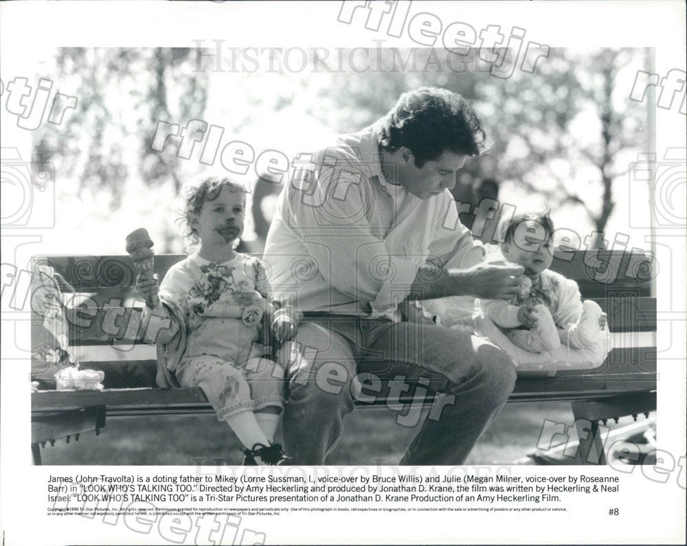 1990 Actors John Travolta, Lorne Sussman, Megan Milner Press Photo ady1099 - Historic Images