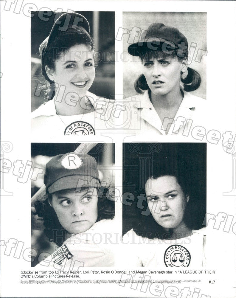 1992 Actors Tracy Reiner, Lori Petty, Rosie O'Donnell Press Photo ady11 - Historic Images