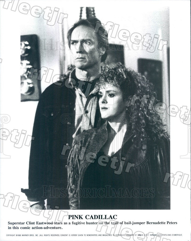 1989 Award Winning Actors Clint Eastwood & Bernadette Peters Press Photo ady1105 - Historic Images