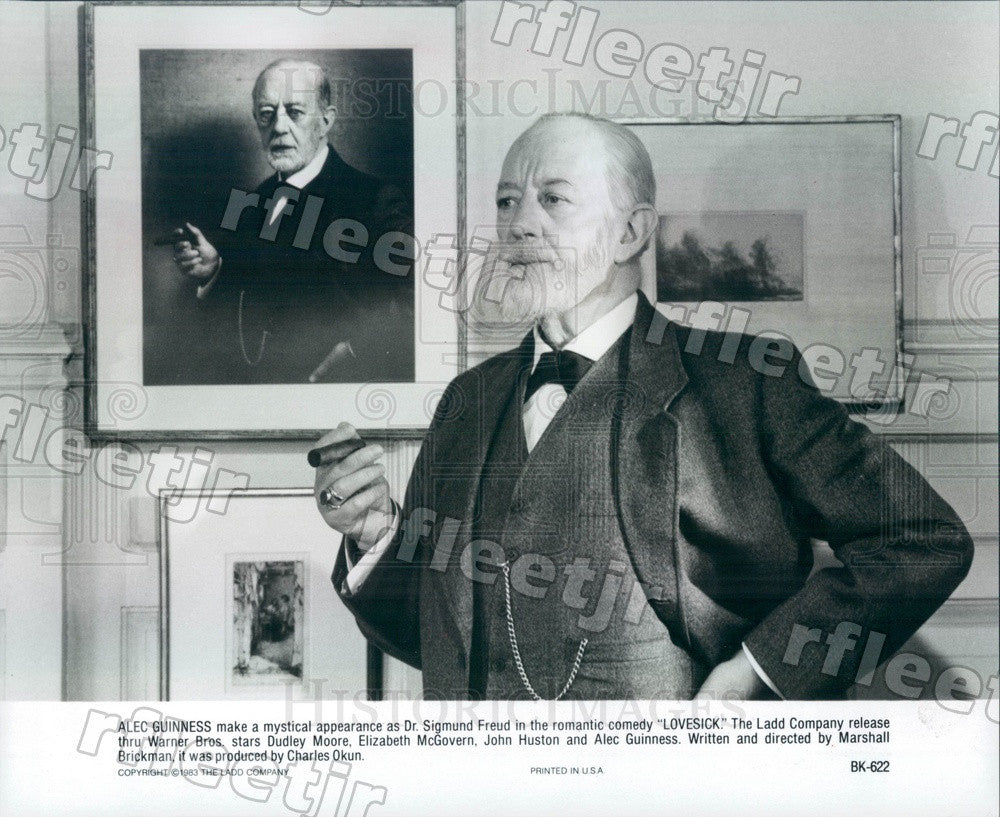 1983 Oscar Winning Actor Alec Guinness in Film Lovesick Press Photo ady1109 - Historic Images