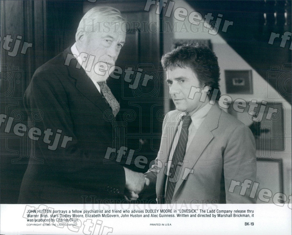 1983 Oscar Winning Actor John Huston & Dudley Moore Press Photo ady1113 - Historic Images