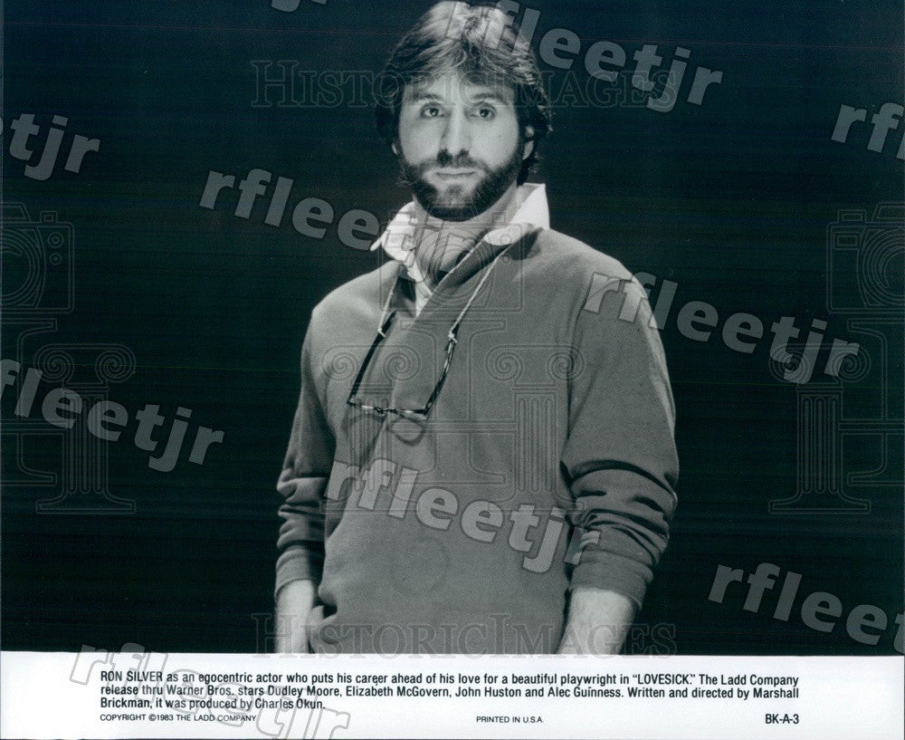 1983 American Actor, Director Ron Silver in Film Lovesick Press Photo ady1115 - Historic Images
