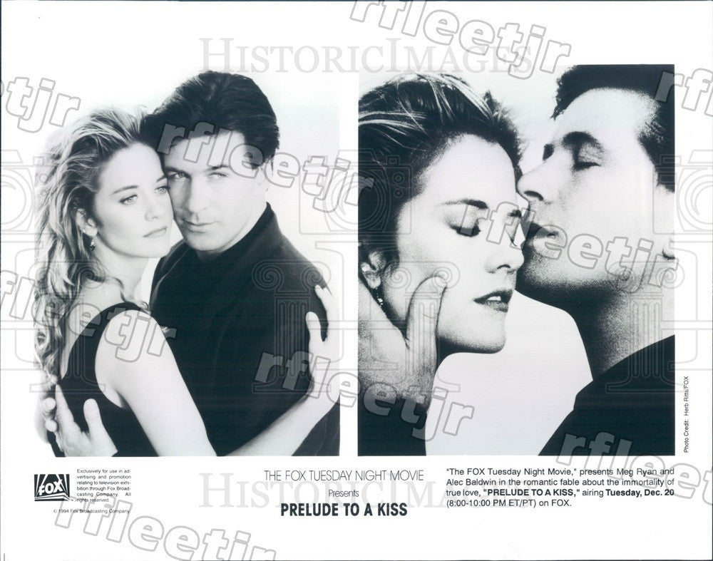 1994 Actors Meg Ryan & Emmy Winner Alec Baldwin in Film Press Photo ady1127 - Historic Images