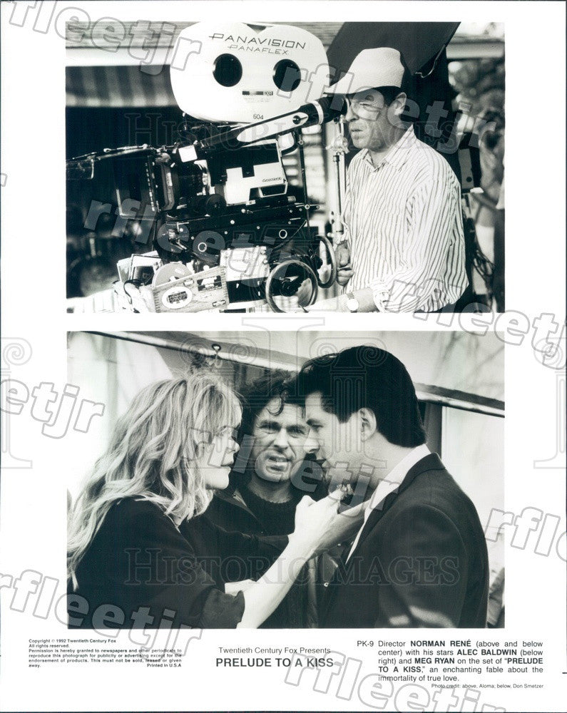 1992 Actors Meg Ryan & Emmy Winner Alec Baldwin Press Photo ady1129 - Historic Images