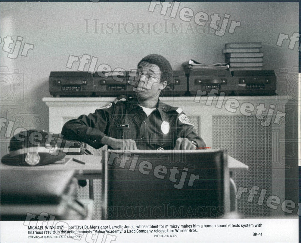 1984 American Actor Michael Winslow in Film Police Academy Press Photo ady113 - Historic Images