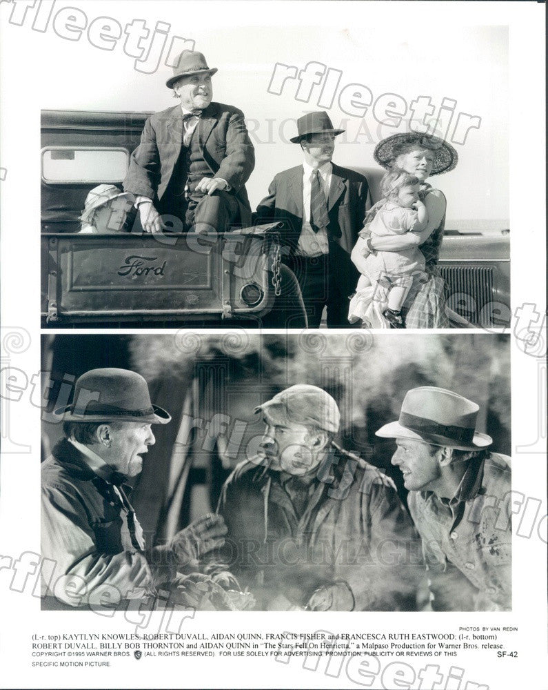 1995 Actors Kaytlin Knowles, Robert Duvall, Aidan Quinn Press Photo ady1139 - Historic Images