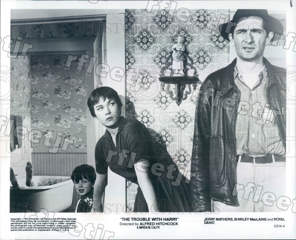 1983 Actors Shirley MacLaine, Royal Dano, Jerry Mathers Press Photo ady1149 - Historic Images