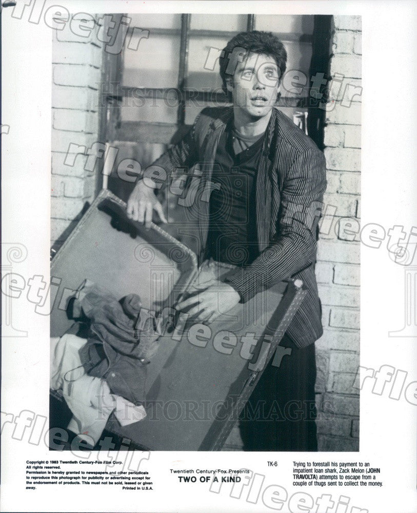 1983 Hollywood Actor John Travolta in Film Two Of A Kind Press Photo ady1155 - Historic Images