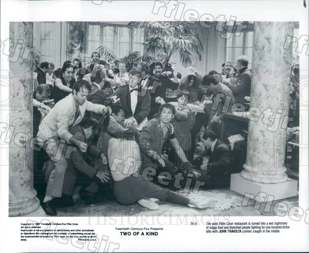 1983 Hollywood Actor John Travolta in Film Two Of A Kind Press Photo ady1159 - Historic Images
