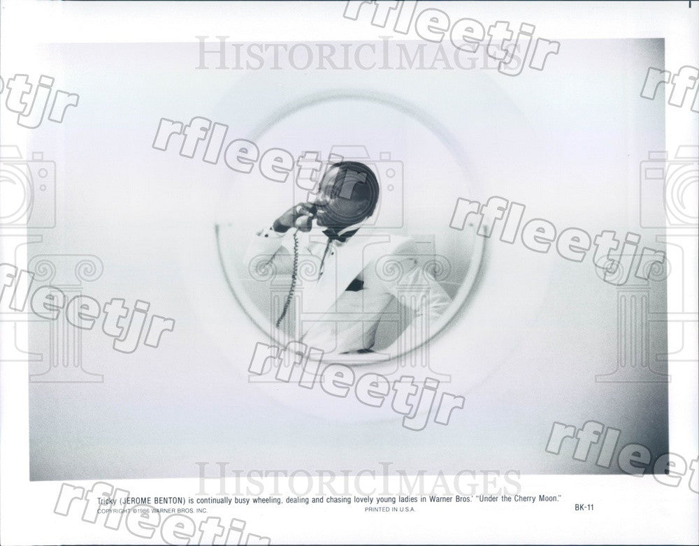 1986 Actor Jerome Benton in Film Under The Cherry Moon Press Photo ady1165 - Historic Images