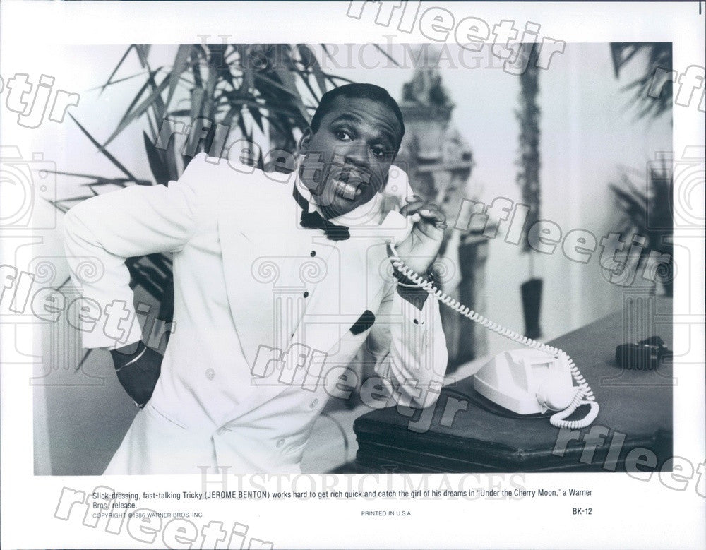 1986 Actor Jerome Benton in Film Under The Cherry Moon Press Photo ady1167 - Historic Images