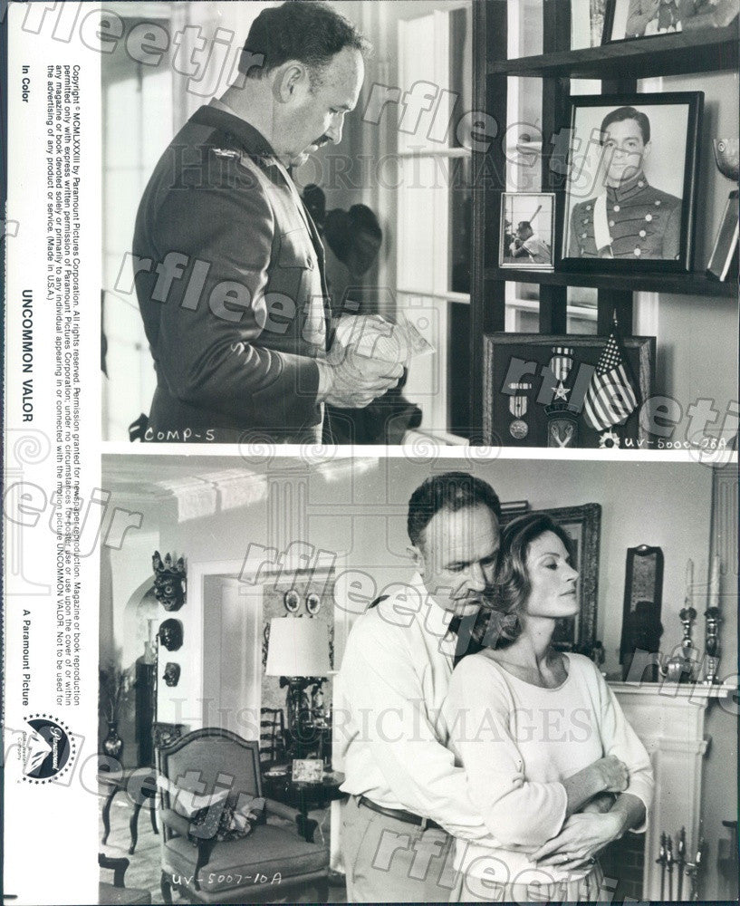 1983 Oscar Winning Actor Gene Hackman & Gail Strickland Press Photo ady1179 - Historic Images