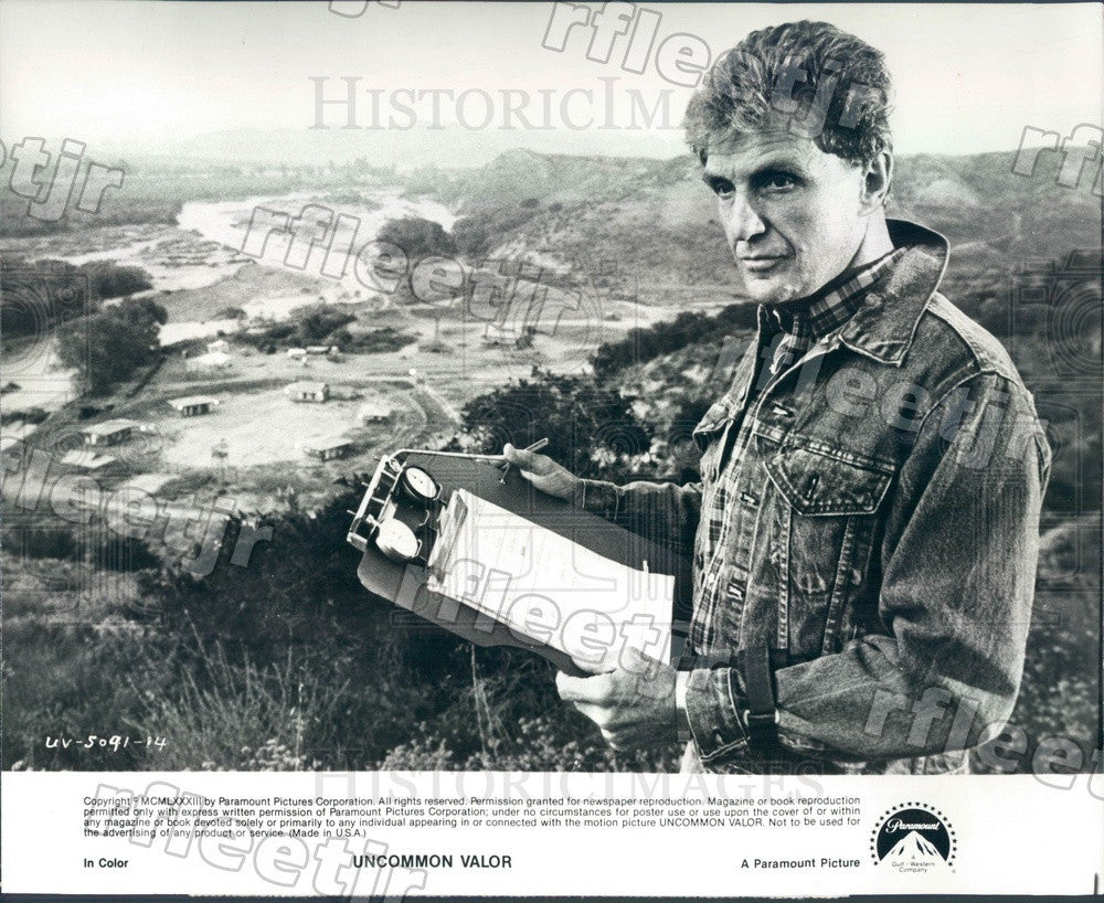 1983 American Actor Robert Stack in Film Uncommon Valor Press Photo ady1185 - Historic Images